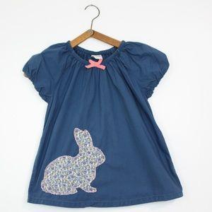 Mini Boden Bunny Applique Shirt Sz 7-8Y